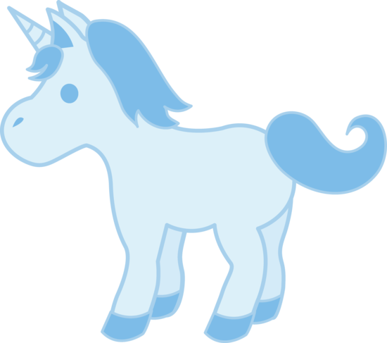 Clipart unicorn light blue. Baby unicorns horse clip
