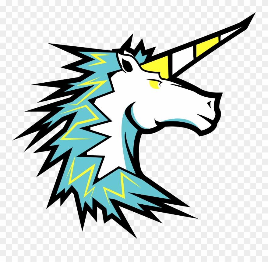 Clipart unicorn logo. Esport png