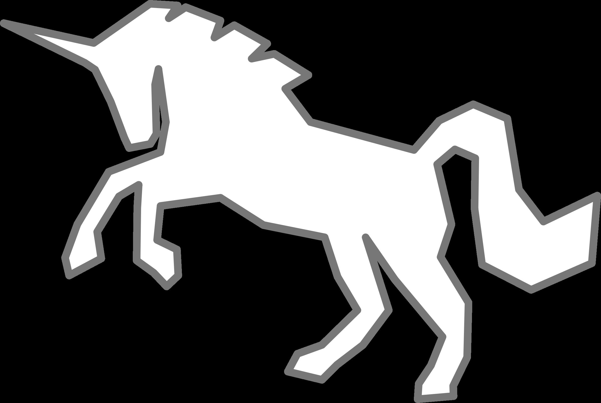 White. Clipart unicorn logo