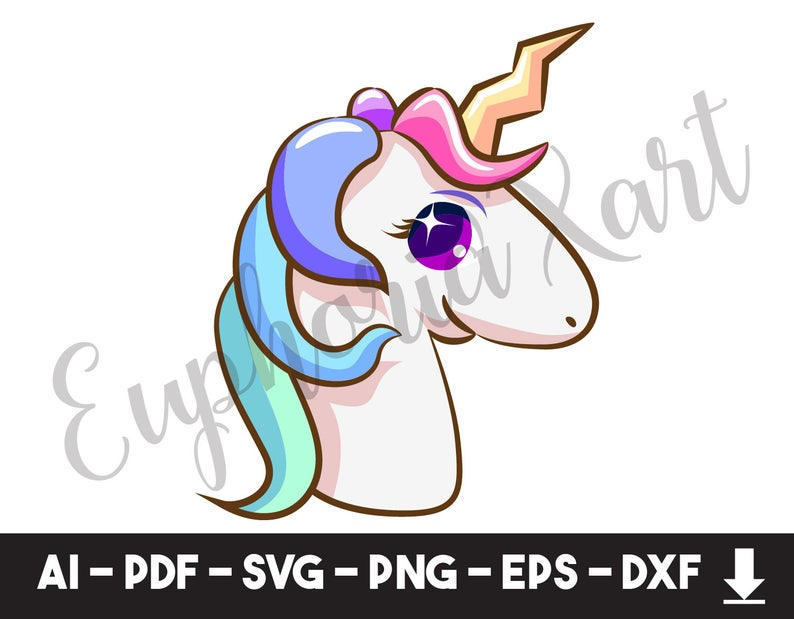 Clipart unicorn logo. Baby svg horse ears
