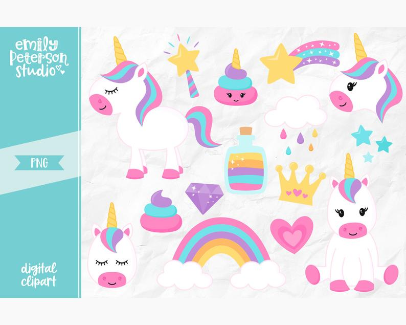 Clip art rainbow commercial. Clipart unicorn magic