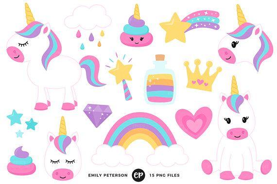 Clipart unicorn magic. Clip art rainbow