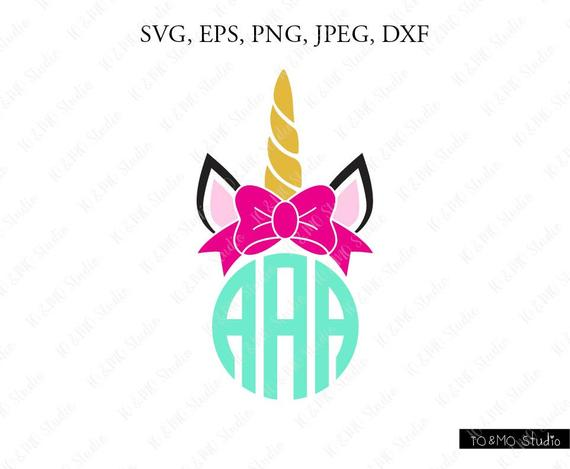Svg clip art face. Clipart unicorn monogram