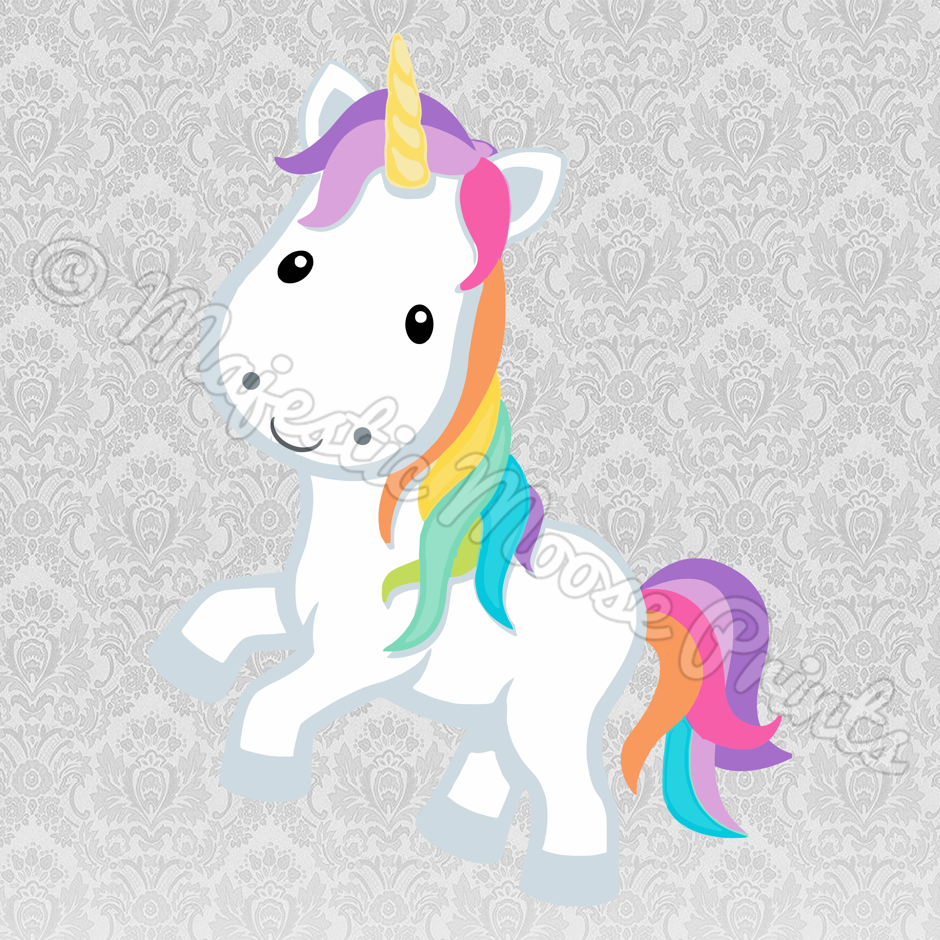 Narwhal clipart svg. Rainbow unicorn files for