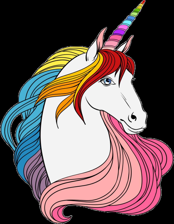 Unicorns rainbow majestic freetoedit. Clipart unicorn mythical creature