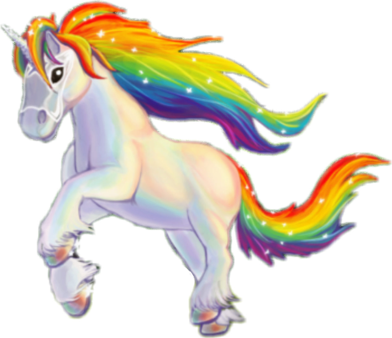 Rainbow color clip art. Clipart unicorn mythical creature