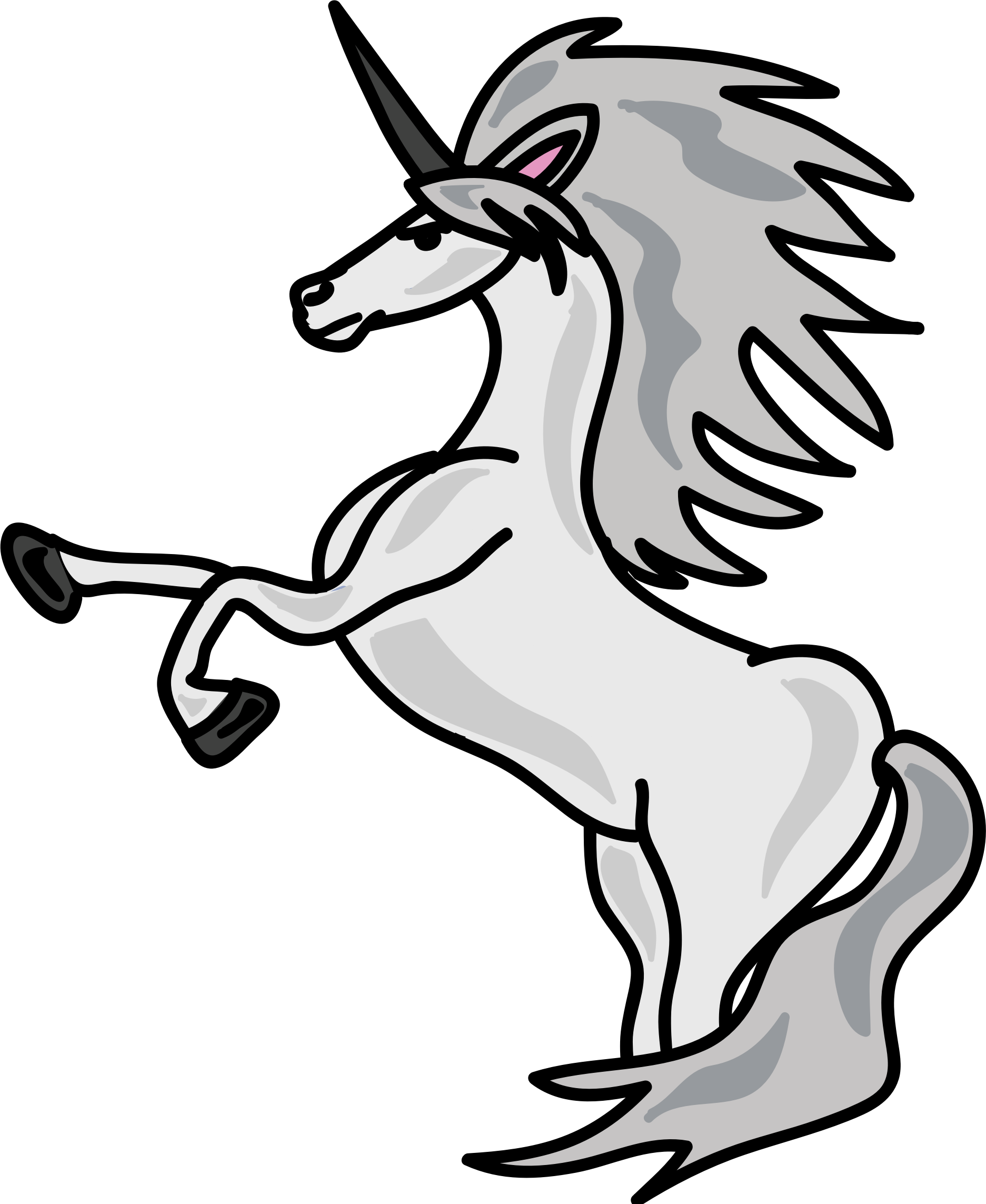 White big image png. Clipart unicorn number