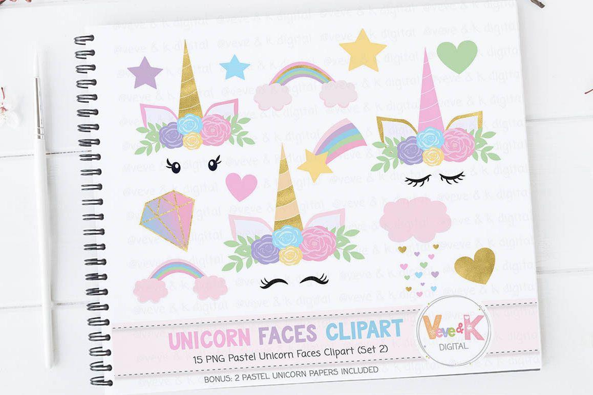 Rainbow baby shower . Clipart unicorn pastel