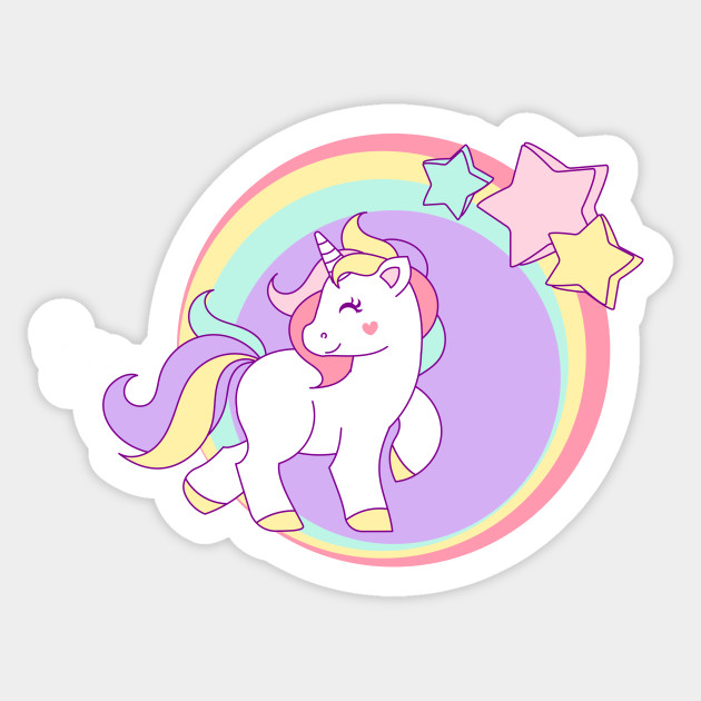 Clipart unicorn pastel. Little with stars