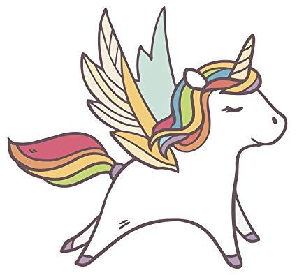 Amazon com cute rainbow. Clipart unicorn pegasus