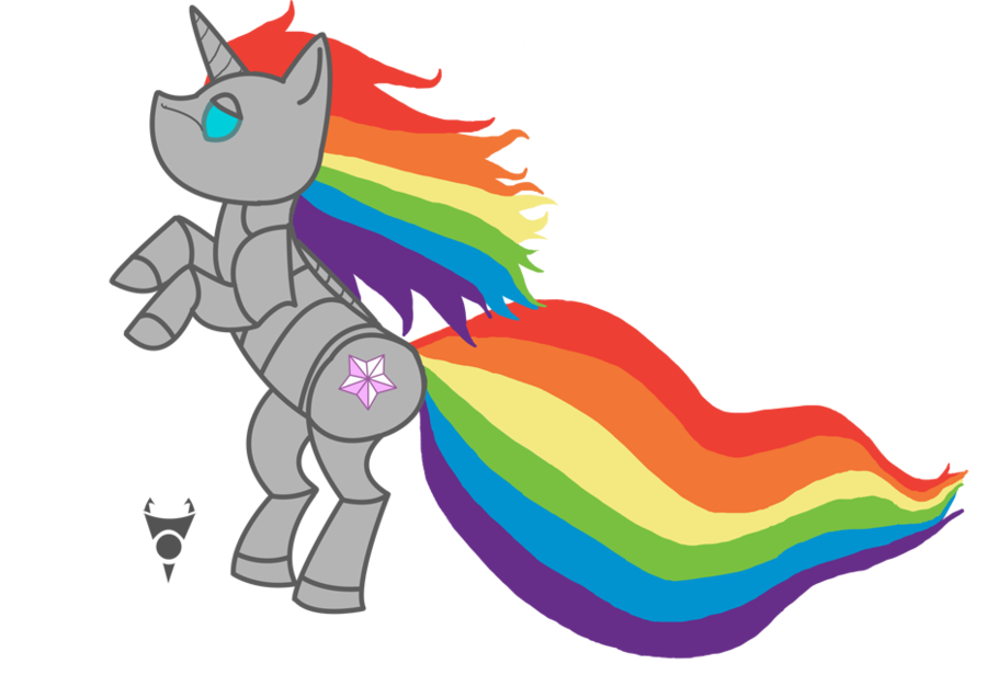 Robot by tombstone on. Clipart unicorn pony