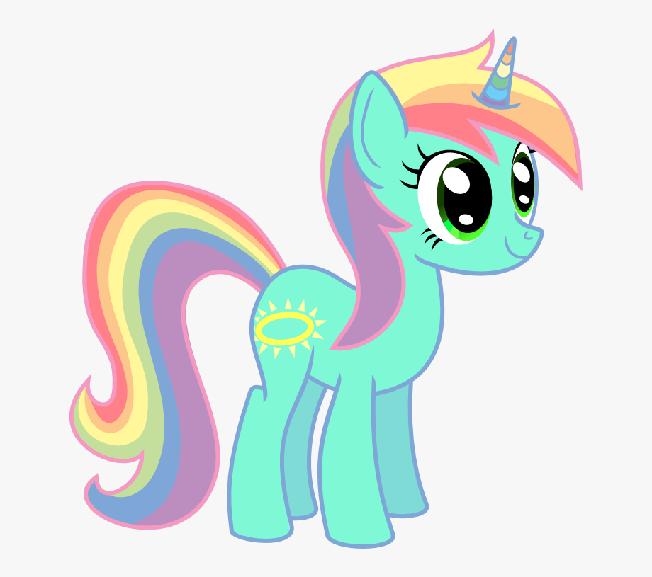 Rainbow png my little. Clipart unicorn pony