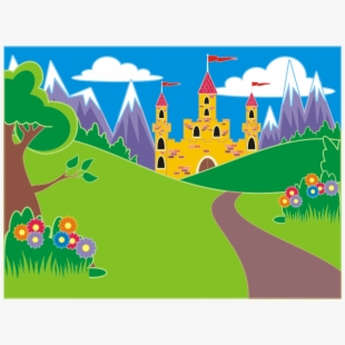 Fairytale landscape icon png. Clipart unicorn scene