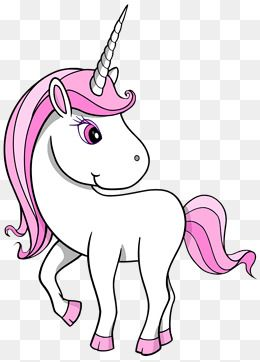 Clipart unicorn simple.  penny horn pink