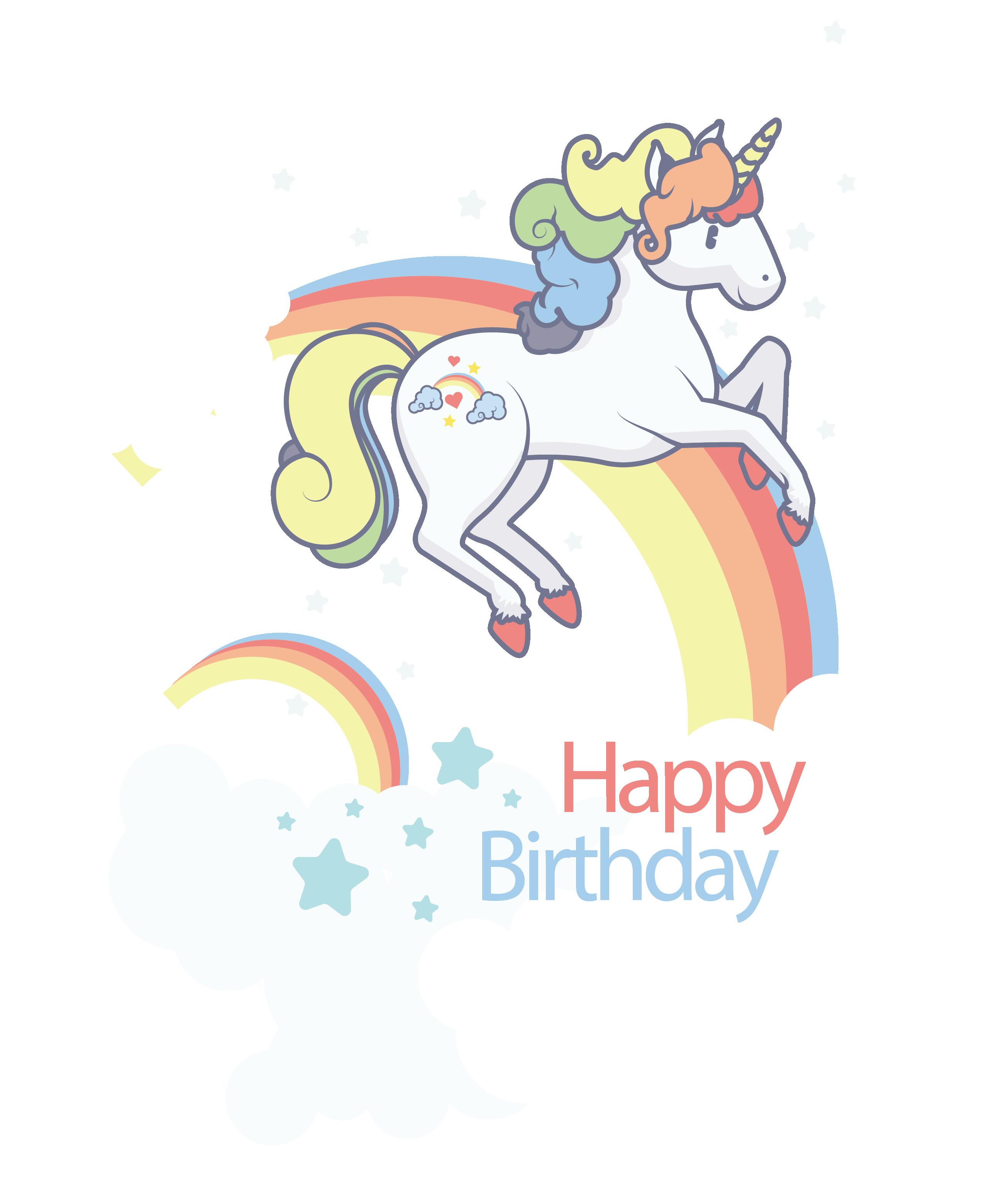 Clipart unicorn template. Birthday clip art a