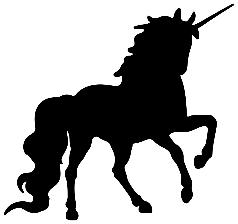 Clipart unicorn template. Onlinelabels clip art silhouette