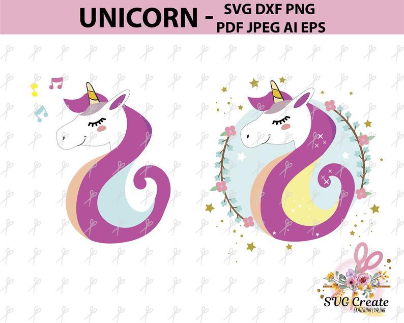 Svg pattern cut clip. Clipart unicorn template