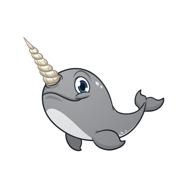 Clipart unicorn whale. Printed vinyl stickers factory