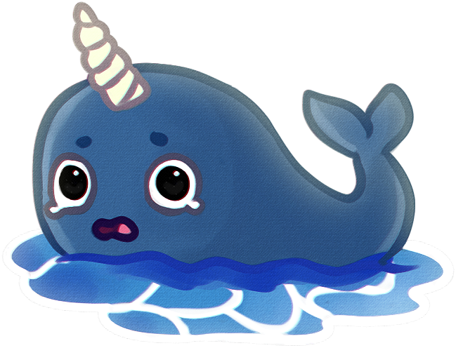 Narwhal clipart drawing. By idjpanda on deviantart