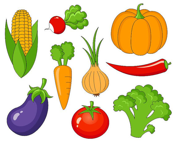 Vegetables clip art cute. Veggies clipart
