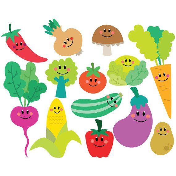 Vector set instant download. Vegetables clipart preschool