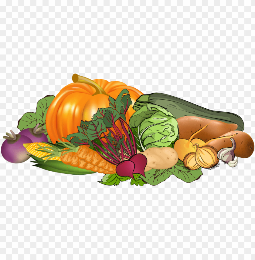 Collection of fruits and. Clipart vegetables banner