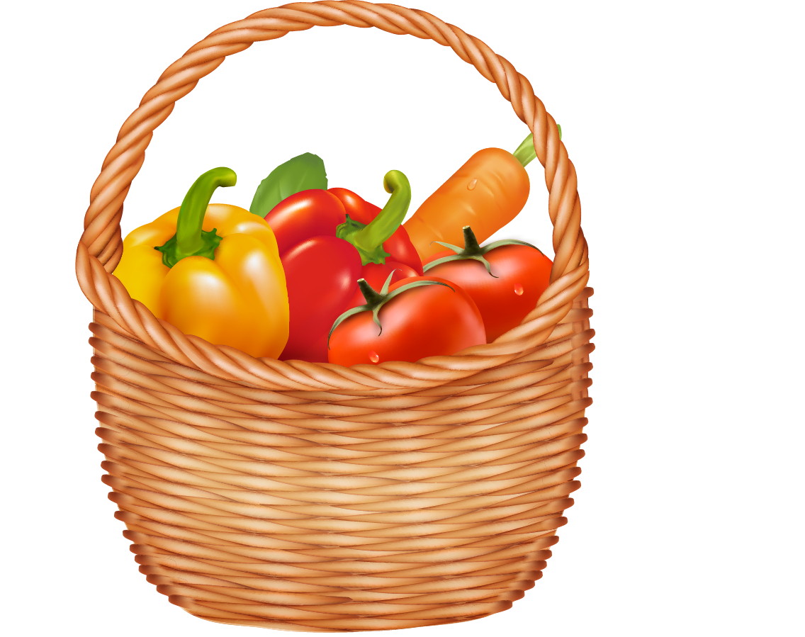 Fruit vegetable clip art. Pear clipart basket