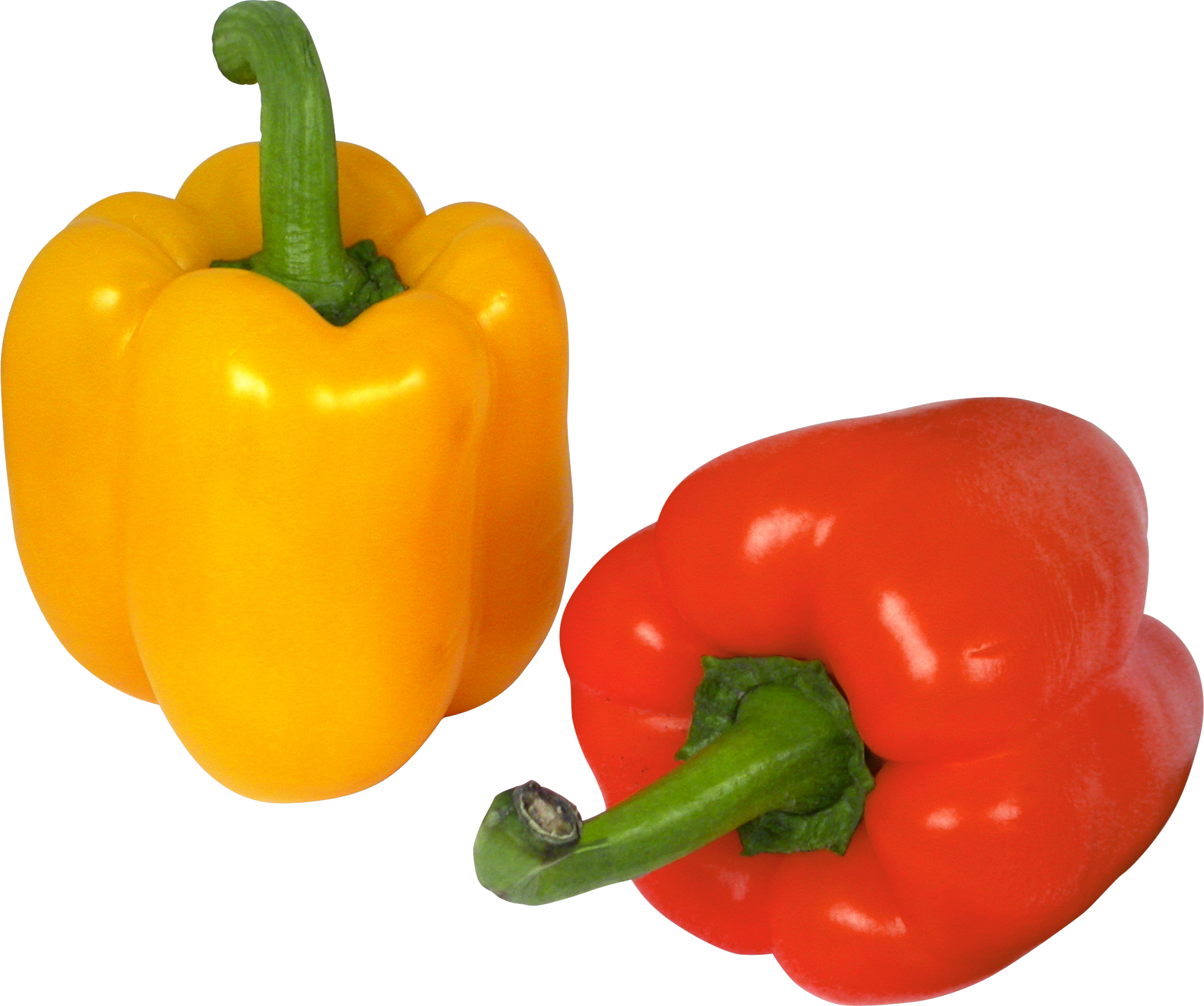 Peppers clipart bell pepper. Five isolated stock photo