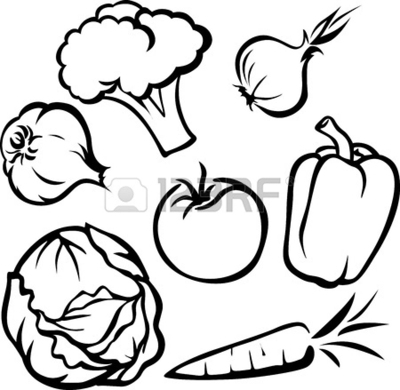 Vegetables clipart outline. Black and white panda