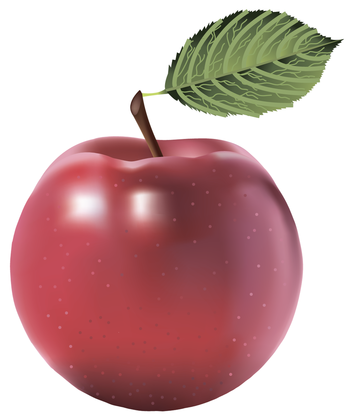 Large Red Painted Apple PNG Clipart