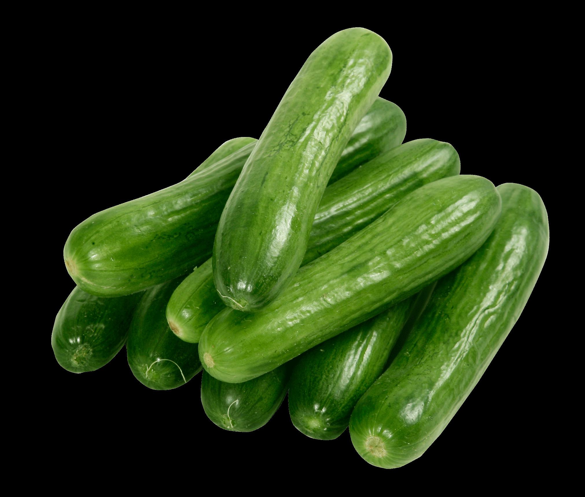 Zucchini clipart transparent background. A few cucumbers png