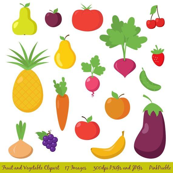 Vegetables clipart summer. Fruit and vegetable clip