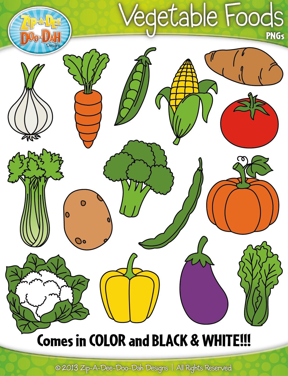 Vegetables clipart preschool. Vegetable foods zip a