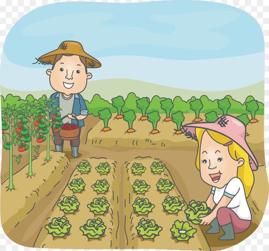Cartoon grass vegetable fruit. Harvest clipart vegatable