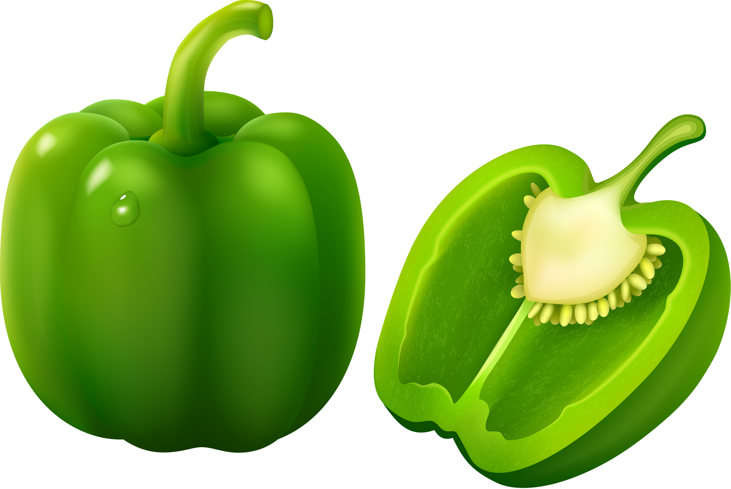 Lettuce clipart cute. Green bell pepper bulgarian