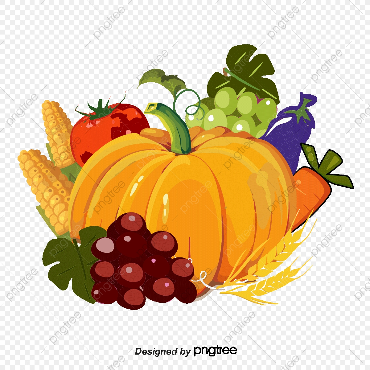 Fruits and vegetables food. Harvest clipart vegatable
