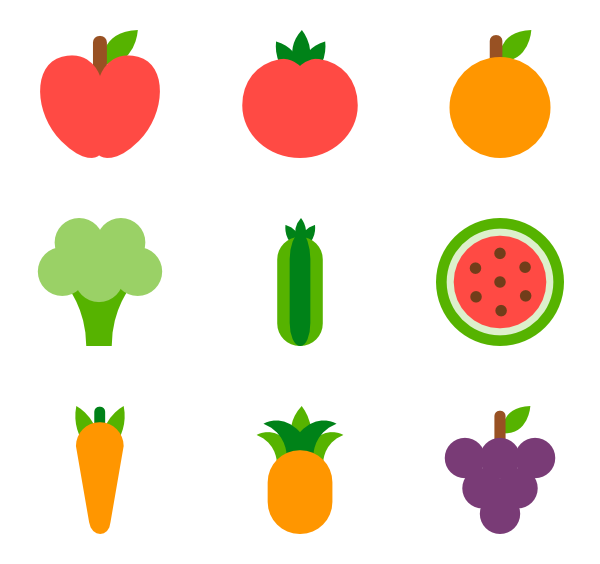 Clipart vegetables name.  fruits icon packs