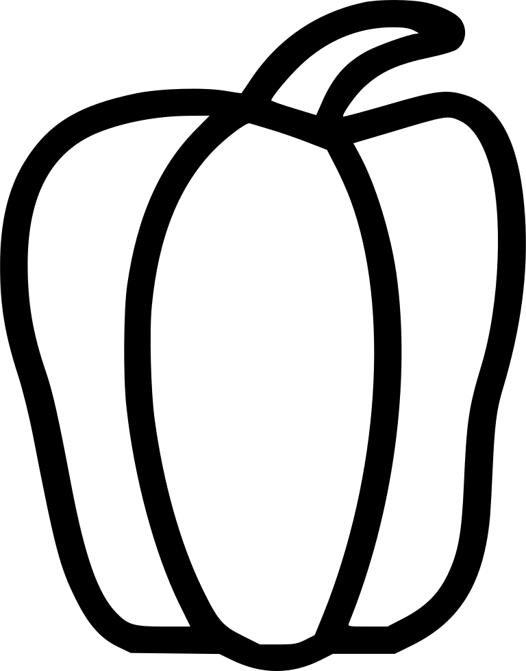 Clipart vegetables outline. Capsicum bell pepper paprika