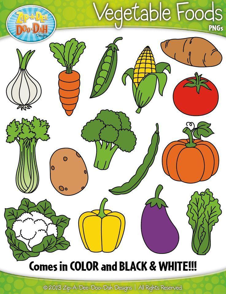 Clipart vegetables preschool. Vegetable foods zip a