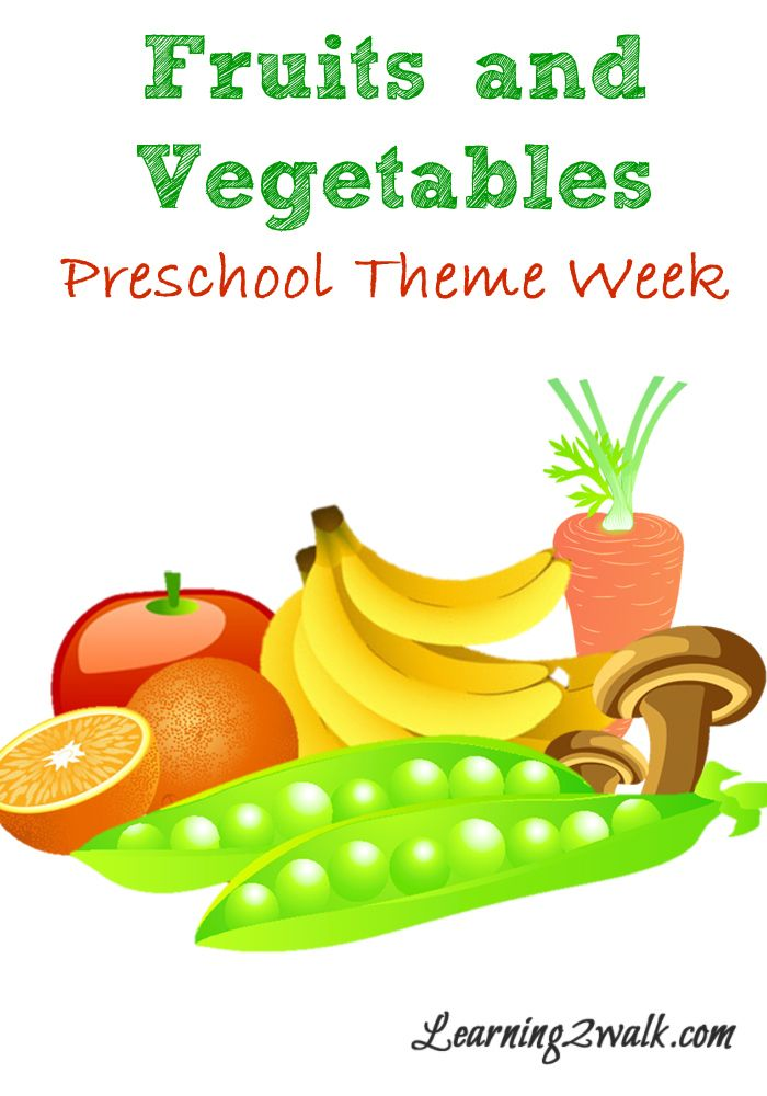 Fruits and theme week. Clipart vegetables preschool