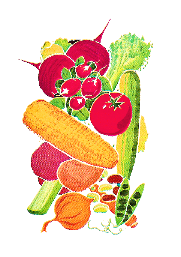 Antique images november clip. Vegetables clipart corn