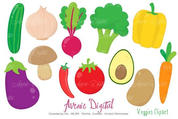 Vectors printables . Vegetables clipart printable
