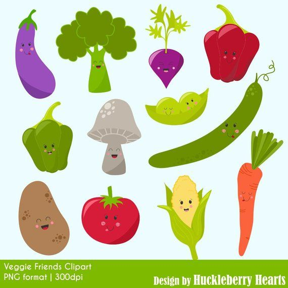 Vegetables clipart printable. Vegetable digital graphics