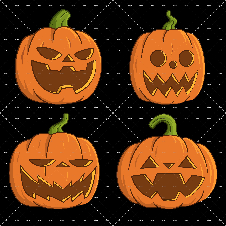 Pumpkins for halloween by. Pumpkin clipart fancy