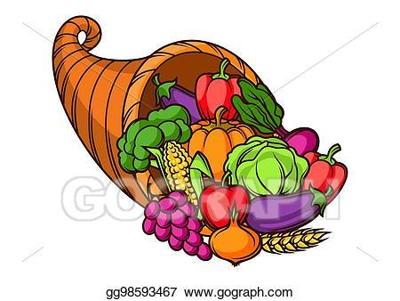 Vector art harvest illustration. Clipart vegetables seasonal food