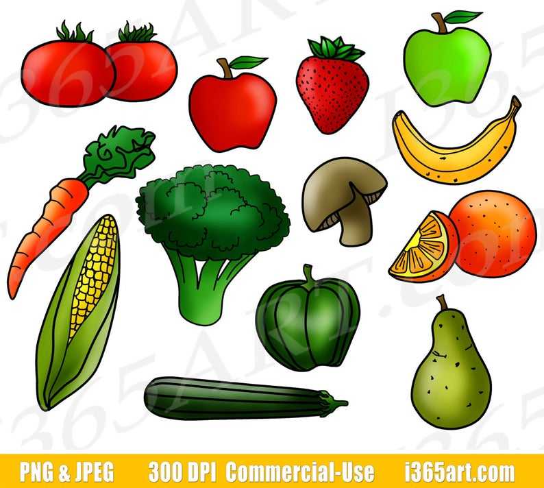 Clipart vegetables seasonal food. Fruits and fruit clip