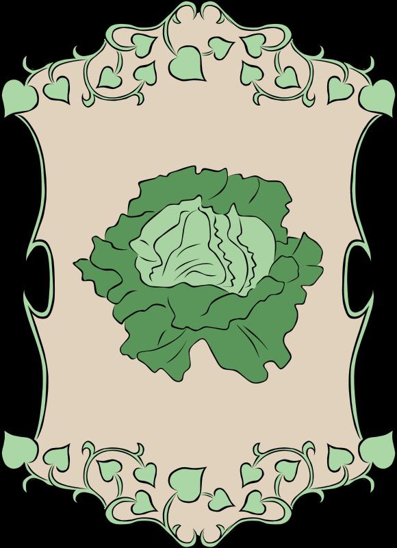 Garden sign recipes vegetables. Lettuce clipart happy