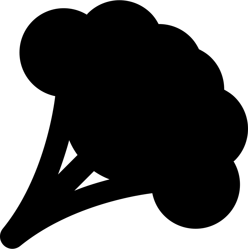 Broccoli at getdrawings com. Clipart vegetables silhouette