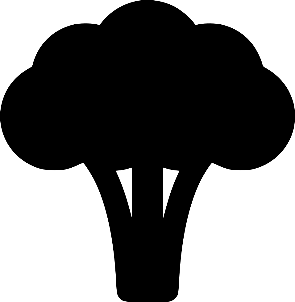 Clipart vegetables silhouette. Broccoli at getdrawings com