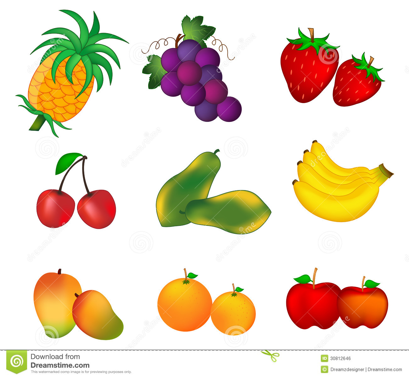 Summer and vegetables clip. Fruits clipart name